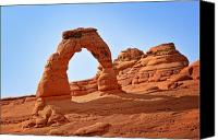 Barren Canvas Prints - Delicate Arch The Arches National Park Utah Canvas Print by Christine Till