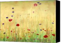 Poppies Canvas Prints - Delicate Poppies Canvas Print by Cecilia  Brendel
