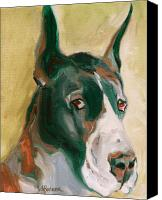 Great Dane Canvas Prints - Delicious Dane Canvas Print by Susan A Becker