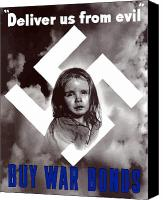 Americana Digital Art Canvas Prints - Deliver Us From Evil Canvas Print by War Is Hell Store