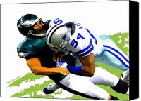Dallas Cowboys Canvas Prints - DeMarcus Ware - Dallas Cowboys Canvas Print by Rodger Underwood