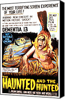 Horror Fantasy Movies Canvas Prints - Dementia 13, Aka The Haunted And The Canvas Print by Everett