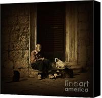 Old Wall Canvas Prints - Dementia Canvas Print by Andrew Paranavitana