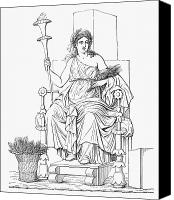 Enthroned Canvas Prints - Demeter/ceres Canvas Print by Granger