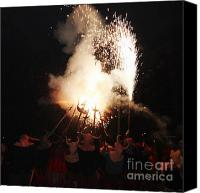 Pyrotechnics Canvas Prints - Demonic coven Canvas Print by Agusti Pardo Rossello