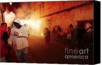Pyrotechnics Canvas Prints - Demons in the street Canvas Print by Agusti Pardo Rossello