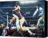 Bars Painting Canvas Prints - Dempsey and Firpo Canvas Print by Pg Reproductions