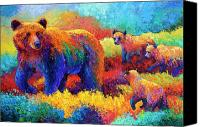 Cubs Canvas Prints - Denali Family Canvas Print by Marion Rose