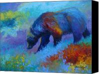 Denali Canvas Prints - Denali Grizzly Bear Canvas Print by Marion Rose