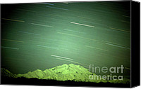 Mountain Trails Canvas Prints - Denali Star Trails and Aurora Canvas Print by Dave Hampton Photography