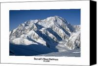 Denali Canvas Prints - Denali West Buttress Canvas Print by Alasdair Turner