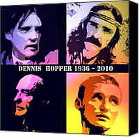 Pop Art Digital Art Canvas Prints - Dennis Hopper Canvas Print by Stefan Kuhn