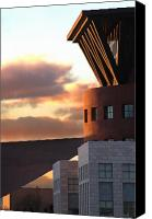 Library Canvas Prints - Denver Art Museum and Library Canvas Print by Jeff Ball