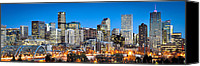 Concrete Canvas Prints - Denver Twilight Canvas Print by Kevin Munro