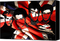 Dave Digital Art Canvas Prints - Depeche Mode 80s heros Canvas Print by Stefan Kuhn