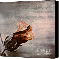 Textured Floral Canvas Prints - Deploiement - 05ft01b Canvas Print by Variance Collections