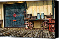 Tallulah Canvas Prints - Depot Wagon Canvas Print by Kenny Francis
