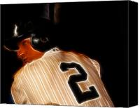 Sports Photo Canvas Prints - Derek Jeter II- New York Yankees - Baseball  Canvas Print by Lee Dos Santos