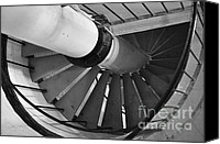 Spiral Staircase Canvas Prints - Descend Canvas Print by Luke Moore