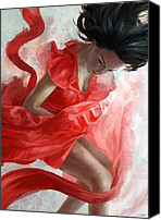 Dancer Art Canvas Prints - Descension Canvas Print by Steve Goad