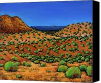 Santa Fe Canvas Prints - Desert Afternoon Canvas Print by Johnathan Harris