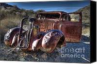 Rusted Cars Canvas Prints - Desert Beauty Canvas Print by Bob Christopher