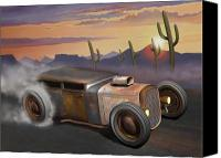Custom Ford Digital Art Canvas Prints - Desert Burnout Canvas Print by Stuart Swartz