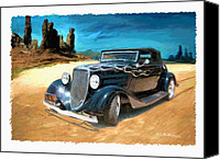 Custom Ford Digital Art Canvas Prints - Desert Drive Canvas Print by RG McMahon
