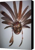 Native American Ceramics Canvas Prints - Desert Face Canvas Print by Angelina Benson