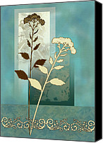 Floral Giclee Canvas Prints - Desert Grass Canvas Print by Gina Femrite
