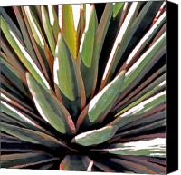 Plants Mixed Media Canvas Prints - Desert Impressions 1 Canvas Print by Linda  Parker