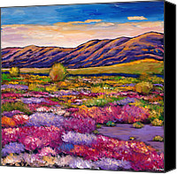 Wall Painting Canvas Prints - Desert in Bloom Canvas Print by Johnathan Harris