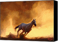 Mare Digital Art Canvas Prints - Desert Run Canvas Print by James Shepherd