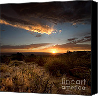 Breathtaking Canvas Prints - Desert Sunset Canvas Print by Matt Tilghman