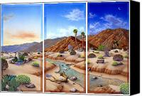 Desert Southwest Canvas Prints - Desert Vista Canvas Print by Snake Jagger