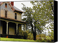 Farm Houses Canvas Prints - Deserted House in Spring Canvas Print by Joyce L Kimble