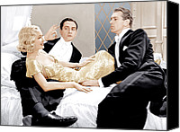 1930s Movies Canvas Prints - Design For Living, From Left Miriam Canvas Print by Everett