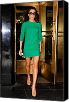 Cork Line Canvas Prints - Designer Victoria Beckham Wearing Canvas Print by Everett