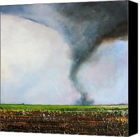 Tornado Canvas Prints - Desolate Tornado Canvas Print by Toni Grote