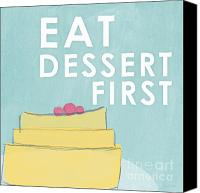 Linda Canvas Prints - Dessert Canvas Print by Linda Woods