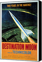 1950 Movies Photo Canvas Prints - Destination Moon, 1950 Canvas Print by Everett