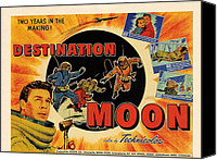 1950 Movies Canvas Prints - Destination Moon, Left John Archer Canvas Print by Everett