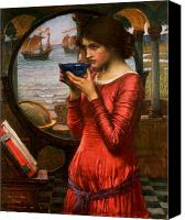 Bowl Canvas Prints - Destiny Canvas Print by John William Waterhouse