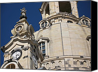Frauenkirche Canvas Prints - Detail Frauenkirche Dresden Canvas Print by Christiane Schulze