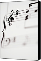 Signature Canvas Prints - Detail Of Sheet Music Canvas Print by Junior Gonzalez
