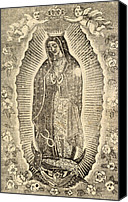 Cherub Canvas Prints - Detail Of The Virgin Of Guadalupe Canvas Print by Everett