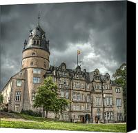 Grey Clouds Canvas Prints - Detmold Castle Canvas Print by Noah Katz