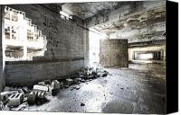 Detroit Tigers Art Canvas Prints - Detroit Abandoned Building Canvas Print by Joe Gee