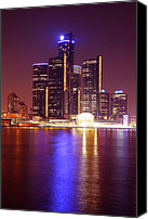 Windsor Canvas Prints - Detroit Skyline 5 Canvas Print by Gordon Dean II