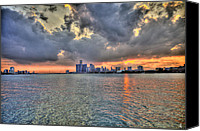 Boogie Canvas Prints - Detroit Sunset  Canvas Print by Nicholas  Grunas